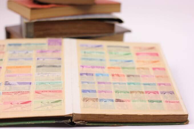 普通切手のストックブック