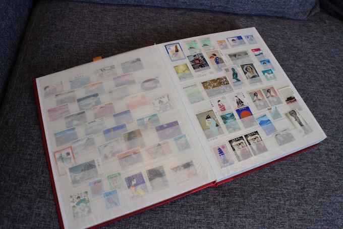 記念切手のストックブック